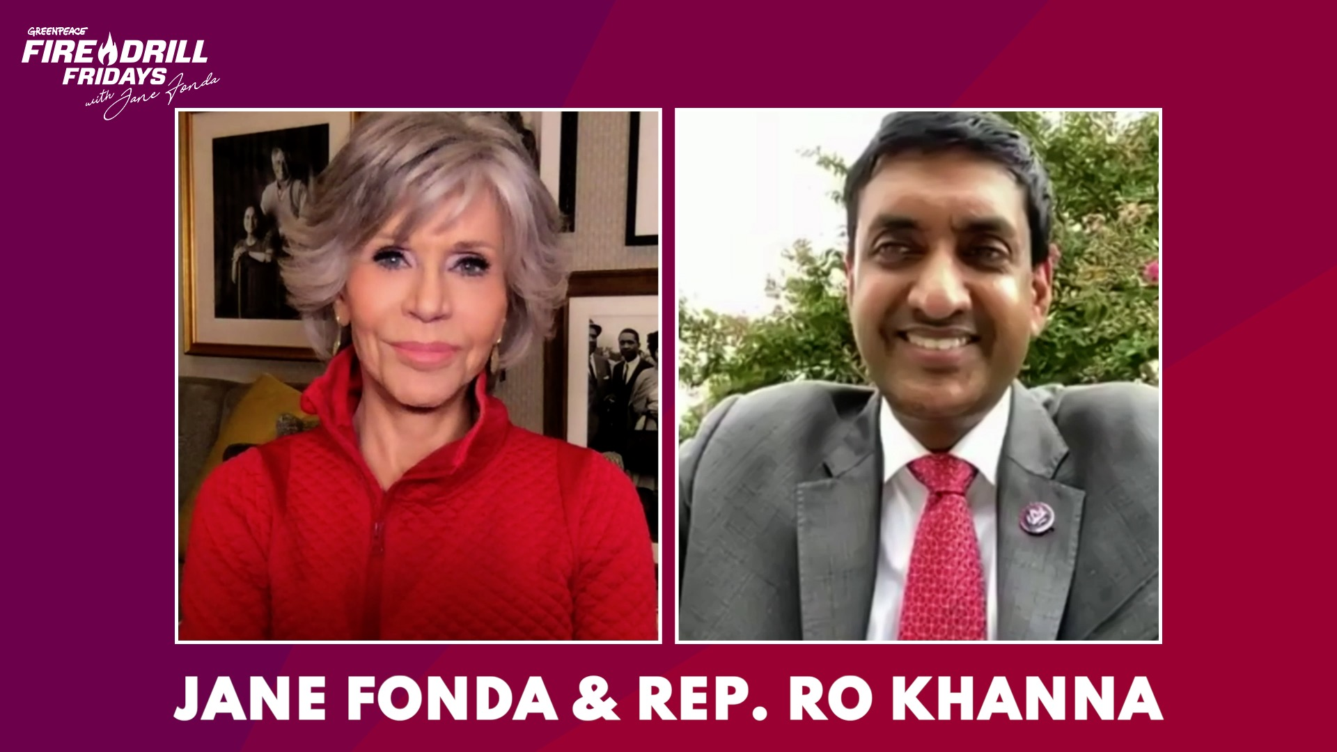 Watch Rep. Ro Khanna on Pushing the Federal Government to address the Climate Crisis